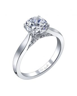 18Kt White Gold Diamond Solitaire Setting 0.08 C.T.W