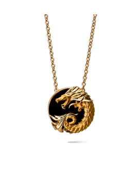 Carrera y Carrera 18kt Yellow Gold Circulos de Fuego Collection Necklace with Onyx DA11264 010708