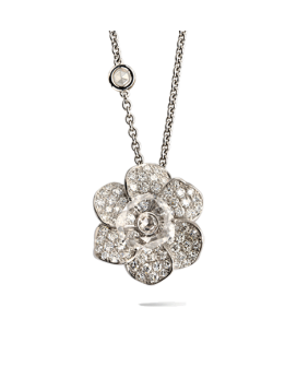 Carrera y Carrera 18kt White Gold Gardenias Collection Necklace DA11575 021301