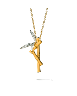 Carrera y Carrera 18kt Yellow Gold Bambu Collection Necklace DA11807 030101