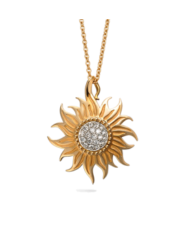 Carrera y Carrera 18kt Gold Sol y Sombra Collection Necklace with Diamonds DA12056 030101