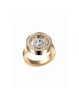 Chopard 18-Karat Rose Gold, 18-Karat White Gold and Diamonds Happy Spirit Ring g825422-9110