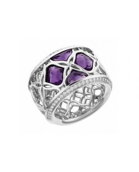 Chopard 18-Karat White Gold, Amethysts and Diamonds Imperiale Ring g829564-1010