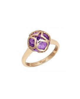 chopard 18-Karat Rose Gold and Amethyst Imperiale Ring g829225-5010