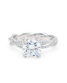 18Kt White Gold Twist Ring .48 C.T.W