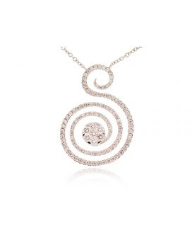 18kt White Gold Diamond Letter S Pendant (.98 ct. tw.)