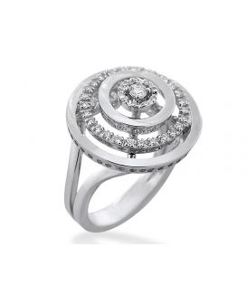 Leo Pizzo 18kt White Gold Diamond Circle Ring (.33 ct. tw.)