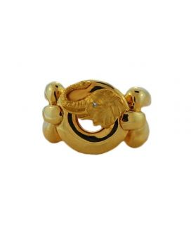 18kt Yellow Gold Carrera y Carrera Elephant Ring