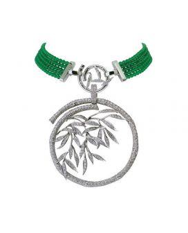 Bambu White Gold, Diamond and Agate Carrera y Carrera Necklace DA10492 023602