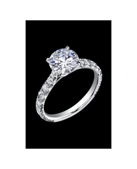 18kt White Gold Diamond C. Gonshor Engagement Ring (.80 ct. tw.)