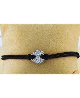 18kt White Gold and Nylon Crivelli Bracelet (.53 ct. tw.)