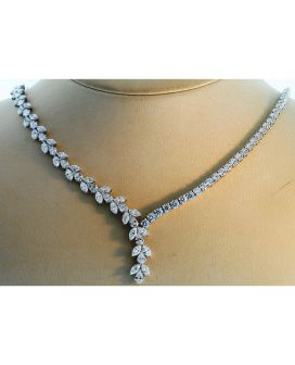 Platinum Multi-Shaped Diamond Necklace (23.86 ct. tw.)