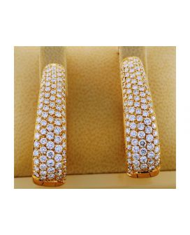18kt Yellow Gold Oval Leo Pizzo Earrings (7.24 ct. tw.)