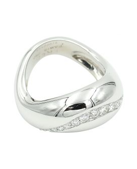 18kt White Gold Fred Diamond Ring .47 c.t.w.