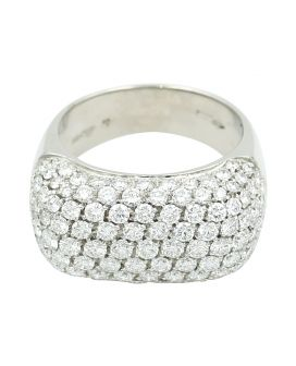 18kt White Gold Leo Pizzo Diamond Ring 2.87 c.t.w.