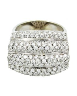 18kt White Gold Diamond Ring 2.75 c.t.w.