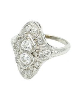 Alicia's Jewelers 18kt White Gold Diamond Ring (.80 c.t.w.)