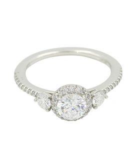 Ritani Platinum and Diamond Engagement Setting (.22 ct. tw.)