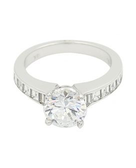 18kt White Gold Diamond Engagement Setting .96 C.T.W