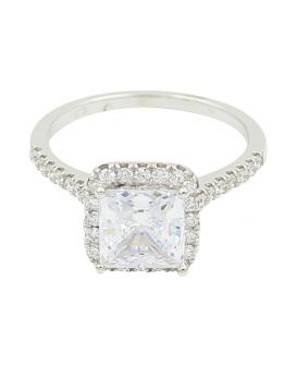 18k White Gold Pave Diamond Engagement Setting .46 c.t.w.