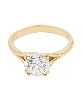 18k Rose Gold Split Shank Engagement Setting