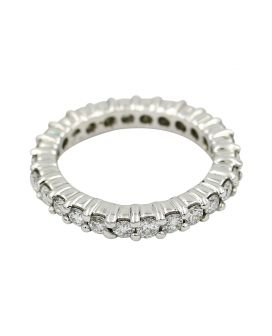 Platinum Diamond Skinny Eternity Band 1.35 c.t.w.
