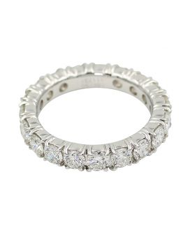 18kt White Gold Diamond Eternity Band 2.76 c.t.w.