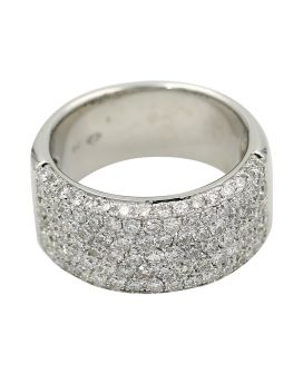 18kt White Gold Crivelli Diamond Wide Band 3.20 c.t.w.