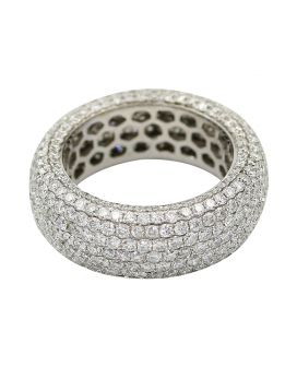 18kt White Gold Pave Diamond Eternity Band 6.00 c.t.w.
