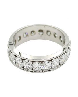 18kt White Gold Oval Diamond Eternity Band 3.15 c.t.w.
