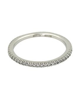 Platinum Diamond Eternity Wedding Band 0.27 C.T.W.
