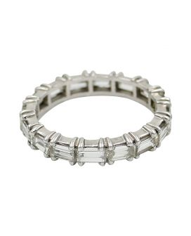 Platinum Baguette Diamond Eternity Band 2.00 c.t.w.
