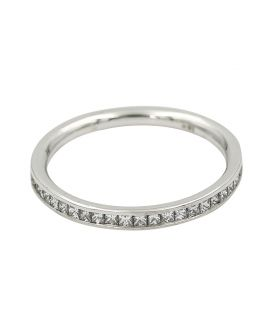 18Kt White Gold Princess Cut Diamond Eternity Wedding Band .80 C.T.W