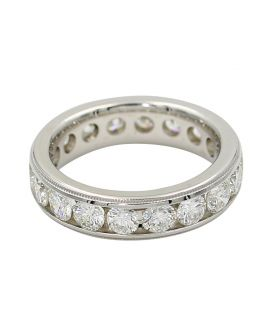 18kt White Gold Diamond Eternity Band 2.79 c.t.w.