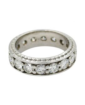 18kt White Gold Diamond Eternity Band 2.84 c.t.w.