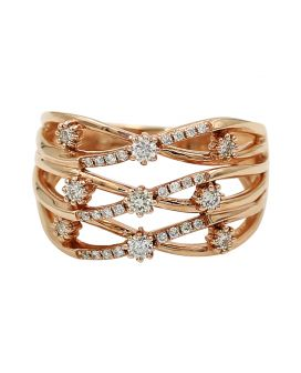 14kt Rose Gold Twist Diamond Ring .40 C.T.W