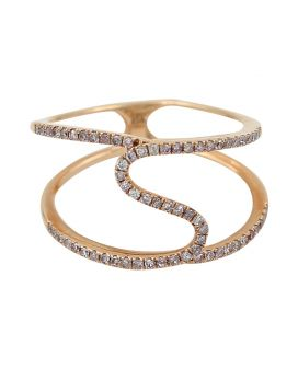 14kt Rose Gold Open Diamond Ring .30 C.T.W