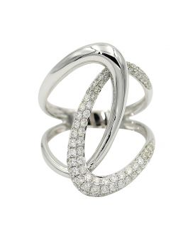 14kt White Gold Diamond Open Ring .28 C.T.W