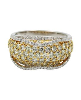 14kt Two Tone Gold Diamond Ring 2.44 C.T.W