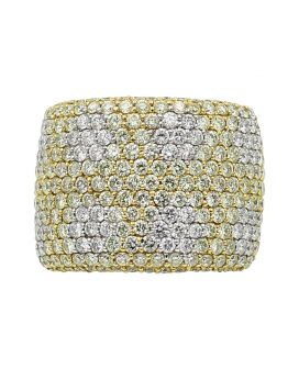 Butani 18kt White Gold White and Yellow Diamond Ring (5.47 c.t.w.)
