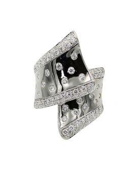 18k White Gold Diamond Ring 1.48 C.T.W