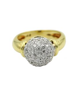 Gregg Ruth 18kt Yellow Gold Diamond Dome Ring 0.55 C.T.W