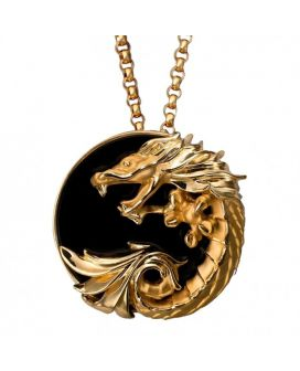 Carrera y Carrera 18kt Yellow Gold Circulos de Fuego Collection Necklace with Onyx DA11263 010708