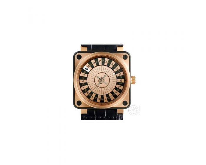 Bell And Ross Br 01 Casino Pink Gold & Carbon Watch