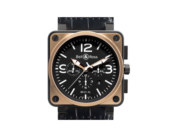 Bell And Ross Br 01-94 Pink Gold & Carbon Watch