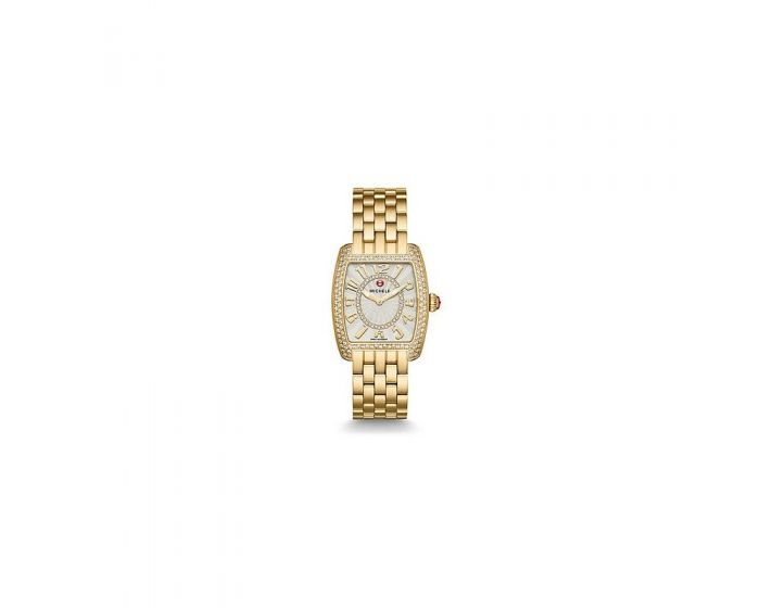 Michele Urban Mini Diamond Gold, Diamond Dial Watch   Mww02A000606