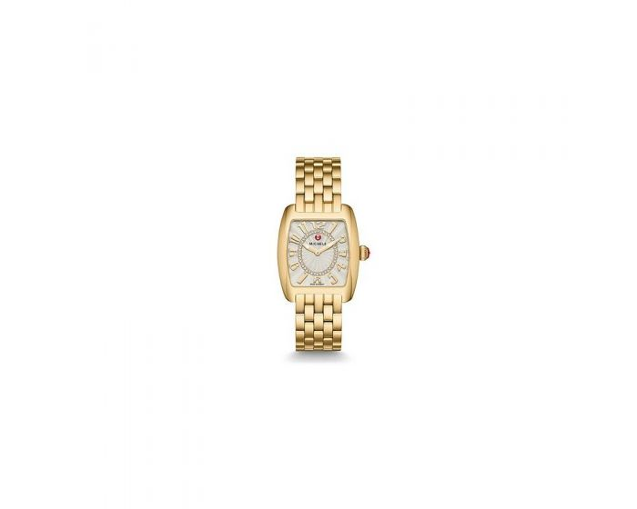 Michele Urban Mini Gold, Diamond Dial Watch   Mww02A000596