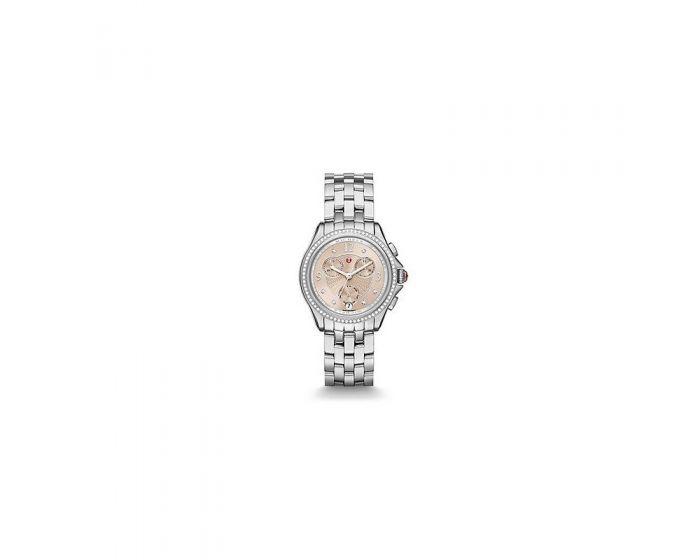 Michele Belmore Chrono Diamond, Beige Diamond Dial Watch   Mww29B000013