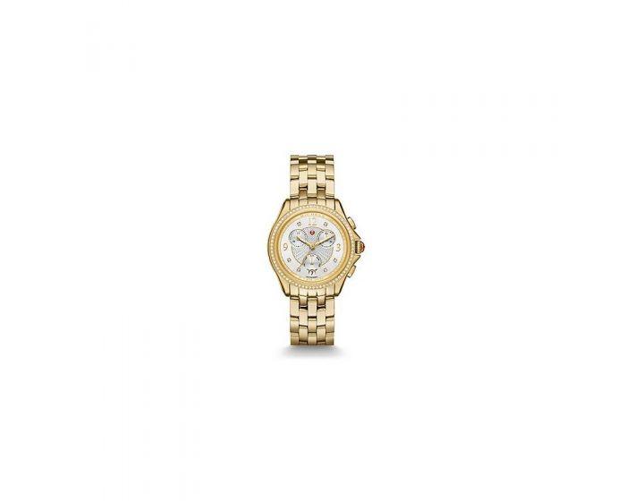 Michele Belmore Chrono Diamond Gold, Diamond Dial Watch   Mww29B000009