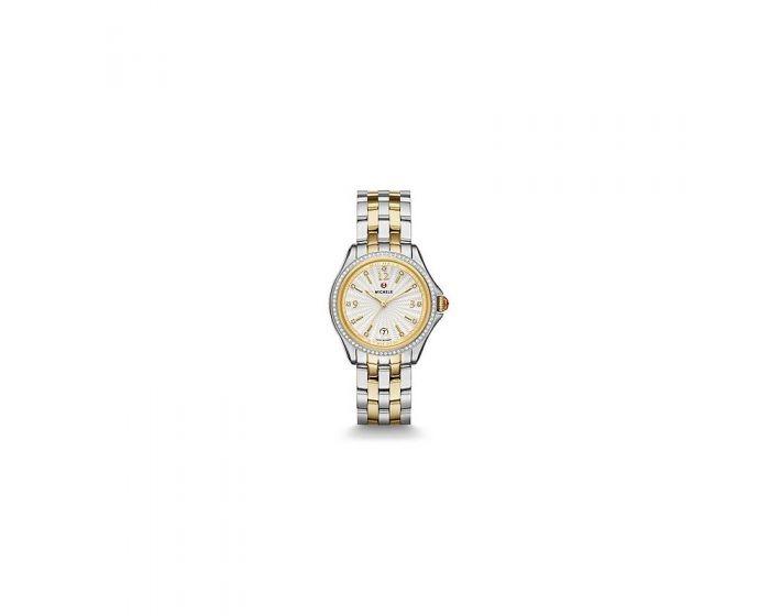 Michele Belmore Diamond, Two-Tone Diamond Dial Watch   Mww29A000009